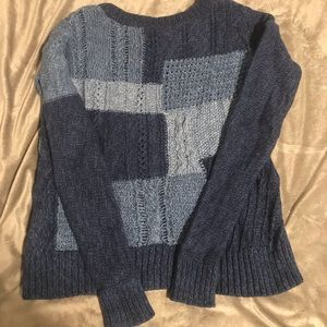 American Eagle Patchwork Sweater